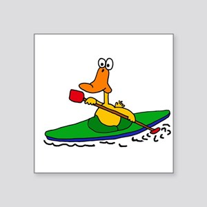 Funny Duck Kayaking Sticker