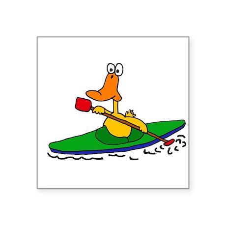 Funny Duck Kayaking Sticker
