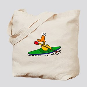 Funny Duck Kayaking Tote Bag