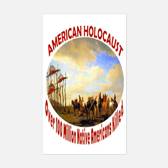 American Holocaust Sticker (Rectangle)