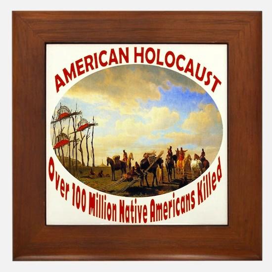 American Holocaust Framed Tile
