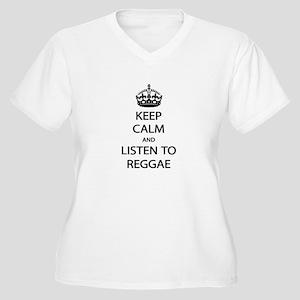 Listen Reggae Plus Size T-Shirt