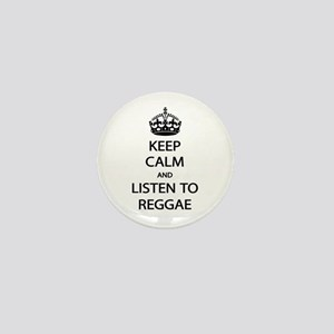 Listen Reggae Mini Button