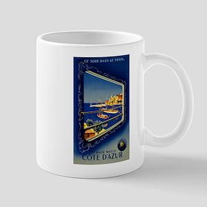 Vintage French Riviera Travel Mug