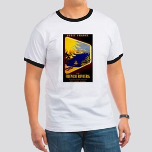 Vintage French Riviera Travel Ad T-Shirt