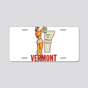 Vermont Pinup Aluminum License Plate