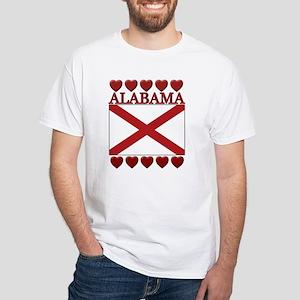 Alabama Flag Hearts T-Shirt