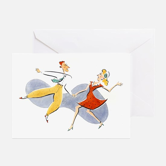 Lindy Hop Greeting Cards