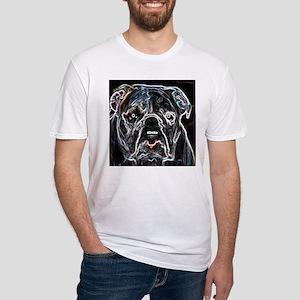 Neon Bulldog Fitted T-Shirt