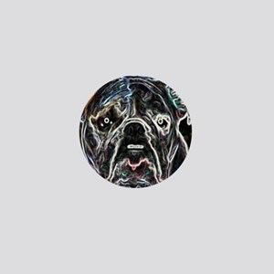 Neon Bulldog Mini Button