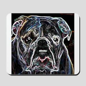 Neon Bulldog Mousepad