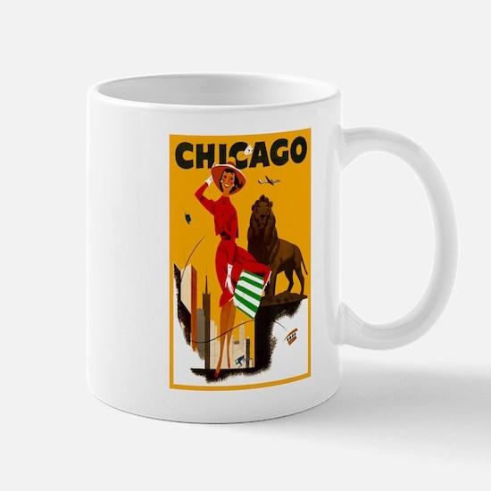 Vintage Chicago Illinois Travel Mug