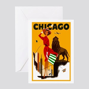 Chicago vintage greeting cards cafepress vintage chicago illinois travel greeting card m4hsunfo