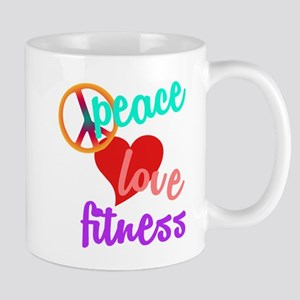 Peace Love Fitness Mug
