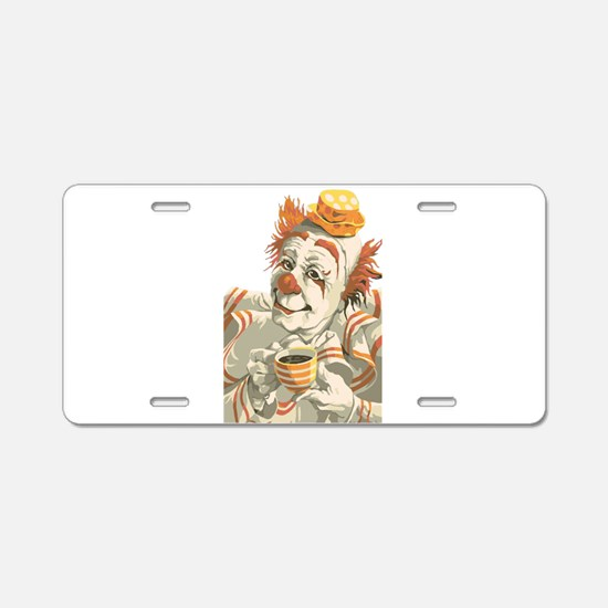 Coffee and Clown Aluminum License Plate