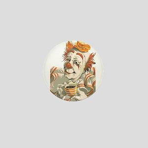 Coffee and Clown Mini Button