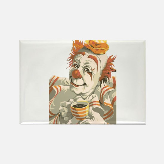 Coffee and Clown Rectangle Magnet