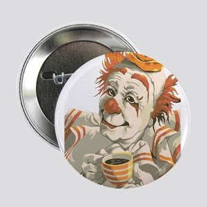 """Coffee and Clown 2.25"""" Button"""