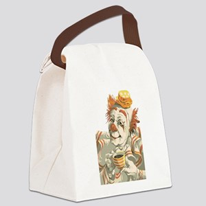 Coffee and Clown Canvas Lunch Bag