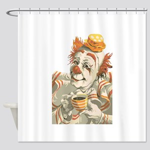 Coffee and Clown Shower Curtain