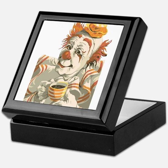 Coffee and Clown Keepsake Box