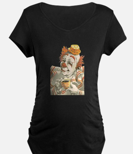 Coffee and Clown Maternity T-Shirt