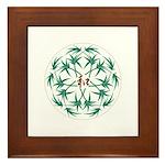 Japanese design bamboo Framed Tile
