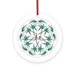 Japanese design bamboo Ornament (Round)
