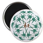 "Japanese design bamboo 2.25"" Magnet (10 pack)"
