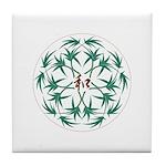Japanese design bamboo Tile Coaster
