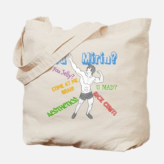 Zyzz Quotes: You Mirin? Tote Bag