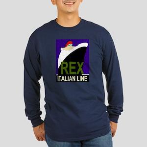 Rex Line Long Sleeve Navy T-Shirt