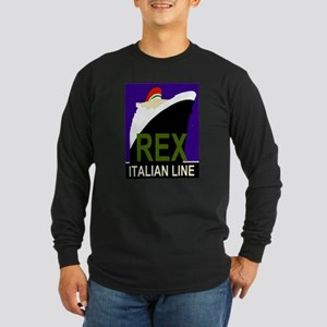 Rex Line Long Sleeve Black T-Shirt