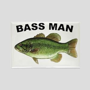 Bass Man ( Ass Man ) Fishing Rectangle Magnet
