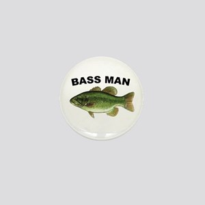 Bass Man ( Ass Man ) Fishing Mini Button