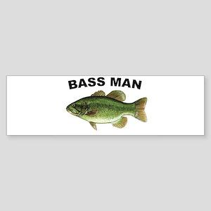 Bass Man ( Ass Man ) Fishing Bumper Sticker