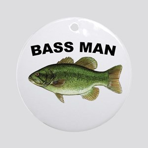 Bass Man ( Ass Man ) Fishing Christmas Ornament