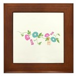 "Japanese flower ""Asagao"" Framed Tile"