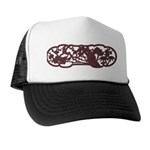 Plum illust of woodgraining Trucker Hat