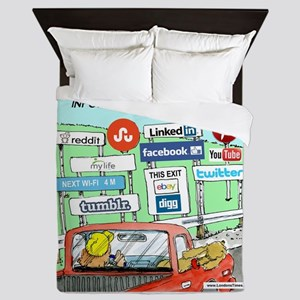 Information Superhighway Sort Of Queen Duvet