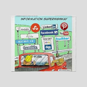 Information Superhighway Sort Of Throw Blanket