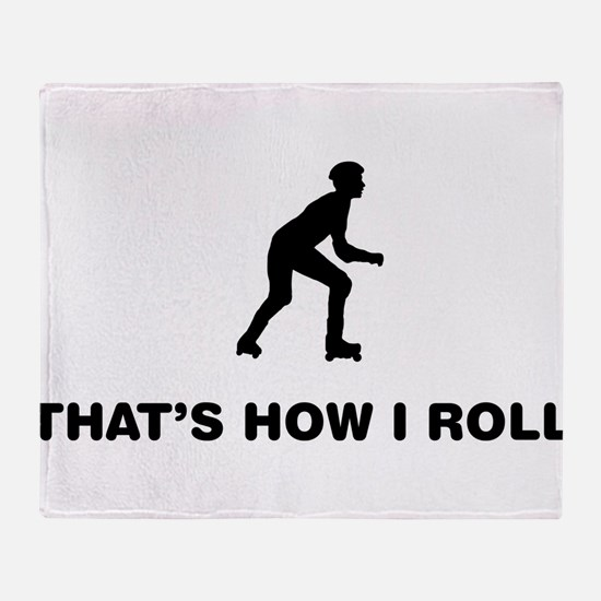 Roller Skating Throw Blanket