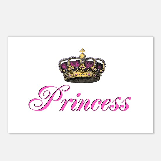 Pink Princess with crown Postcards (Package of 8)