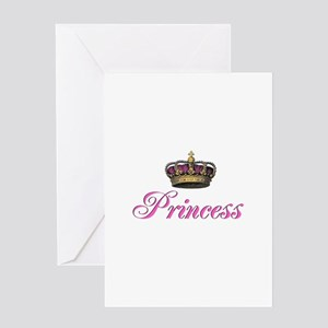 Pink Princess with crown Greeting Card