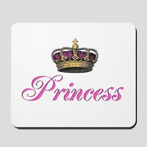 Pink Princess with crown Mousepad