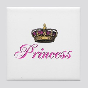 Pink Princess with crown Tile Coaster