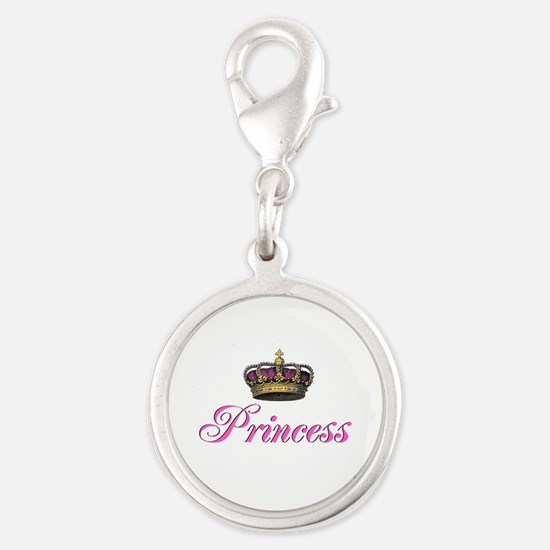 Pink Princess with crown Charms