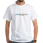 Colorful clouds White T-Shirt