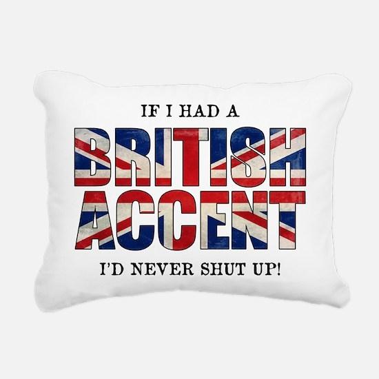 British Accent Rectangular Canvas Pillow