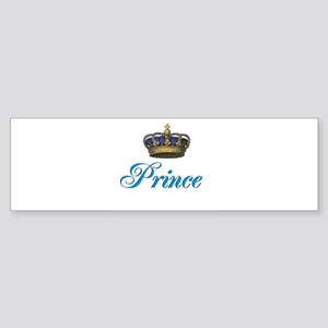Blue Prince text with crown Bumper Sticker